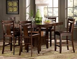 High Dining Room Table Set by Homelegance Broome Counter Height Dining Set Dark Brown D2524 36