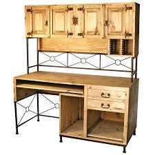 Computer Desks Houston Rustic Pine Bookcase Rustic Pine And Wrought Iron Computer Desk