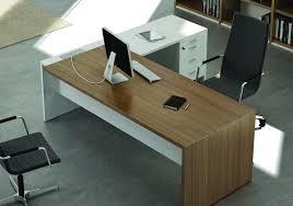 bureau et blanc bureau contemporain design ensemble directionnel couleur noyer