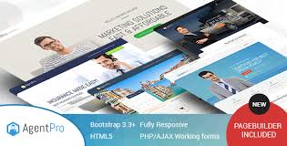 agentpro exclusive agents agency landing page html template with
