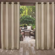 2 Tone Curtains Biscayne Sand Indoor Outdoor 2 Tone Textured Grommet Top Window
