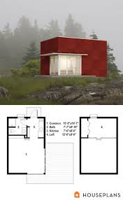 500sft tiny modern cottage plan number 497 61 houseplans com