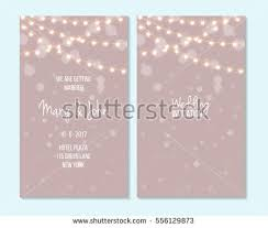 wedding invitation thank you card save stock vector 556129873
