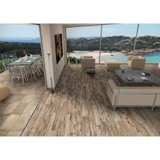 salvage brown wood plank porcelain tile 6in x 40in 100013663
