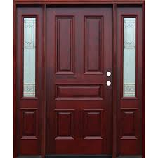 farmhouse front doors exterior doors the home depot traditional 5 panel stained mahogany wood prehung front door w