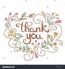 thank you text poster thanksgiving card stock vector 591817604