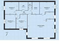 plan plain pied 4 chambres maison plain pied 4 chambres sans couloir inspiration design plan de