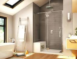 Bathroom Shower With Seat Building A Walk In Shower How To Build Showers With Seat Designs