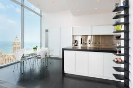 high rise kitchen table penthouse hi rise with panoramic view of chicago