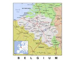 Belgium Map Europe by Maps Of Belgium Detailed Map Of Belgium In English Tourist Map