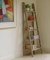 Ikea Ladder Bookshelf Leaning Wall Shelf Close Up Of Espresso Finish On 3 Shelf Leaning