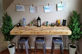 reclaimed wood modern custom craft table art bar office work