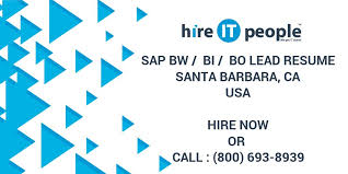 Sap Copa Resume Sap Bw Bi Bo Lead Resume Santa Barbara Ca Hire It People