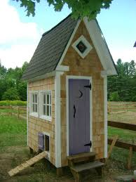 here u0027s a fancy chicken coop made tall and slender chickens and