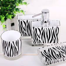 zebra bathroom set zebra print bathroom accessories sets tsc