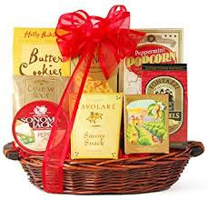 Snack Basket Delivery Amazon Com Wine Com Something Sweet U0026 Savory Snack Gift Basket