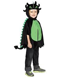 Dragon Baby Halloween Costume Black Dragon Poncho Toddler Costume Large Fits 3t Baby