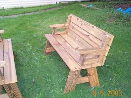 convertible bench table construction plans outdoor crafts and