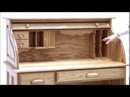 solid oak roll top desk solid oak single pedestal roll top desk youtube