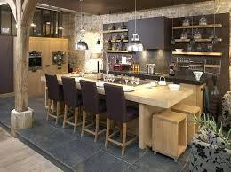 cuisine ouverte avec ilot table ilot central cuisine pour manger amazing ilot central cuisine a la