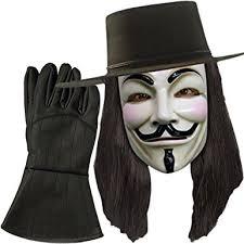 v for vendetta costume v for vendetta hat mask wig gloves combo costume