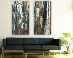 Wall Art Sets For Living Room View Large Wall Art Trees By Shoagallery On Etsy