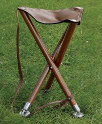 leather folding camp chair field seat orvis
