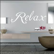 wandtattoos badezimmer wandwort relax für das badezimmer in weiss unsere schönsten