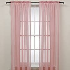 Light Pink Curtains Miuco 2 Panels Grommet Textured Solid Sheer Curtains