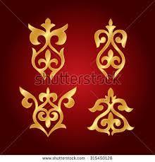 afbeeldingsresultaat voor kazakh ornaments leerbewerking