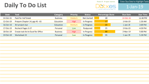 Project List Excel Template To Do List Excel Template Free To Do List Template
