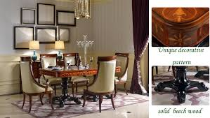 Classic Dining Chairs Neo Classical Dining Chairs Half Surrounded Back Wooden Designer