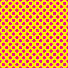 yellow with pink polka dots seamless vector pink polka dots pattern on yellow background stock