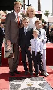 Seeking Will Ferrell Will Ferrell With Viveca And Their 3 Sons As He Receives