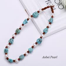 turquoise pearls bracelet images Aobei pearl handmade jewelry set made of turquoise freshwater jpg