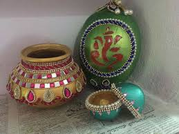 beautifully decorated aarti thali fanart pinterest