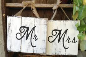 Mr And Mrs Wedding Signs Wooden Mr And Mrs Sign Top Table Wedding Lily Special Events