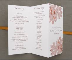 tri fold wedding program templates tri fold wedding program template layout babaninas free