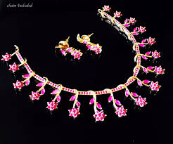 fashion necklace sets images Indian bollywood style cz ad wedding fashion jewelry ruby necklace jpg