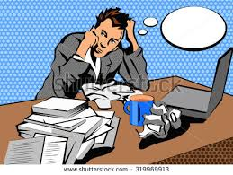 Desk Pop Other Guys Man Depression Crisis Country Life Bad Stock Vector 383632258