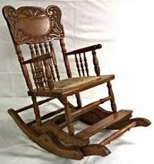 Rocking Chair Conversion Kit Antique Vintage Oak High Chair Rocker Press Back Cane Seat