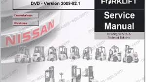 nissan forklift internal combustion l01 l02 series service repair