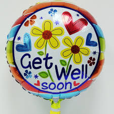 get well soon balloons get well soon balloon with flowers and hearts the gift shops at