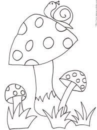 imprimer le coloriage de 3 champignons et de l u0027escargot tête à