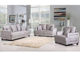 Grey Velvet Sofas Furniture Ville Bronx Ny Ferrara Grey Velvet Sofa U0026 Loveseat