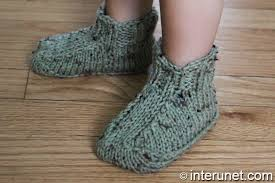 how to knit booties for babies interunet