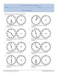 elapsed time worksheets telling time worksheet for third grade