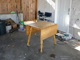 Drop Leaf Table Plans Remodelaholic Refinished Drop Leaf Table