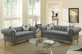 Fabric Chesterfield Sofa Chesterfield Sofa Set Grey Fabric
