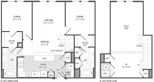 Loft Floor Plans 1 2 And 3 Bedroom Floor Plans U0026 Pricing Jefferson Square Apartments
